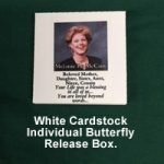 Cardstock Square butterfly release box
